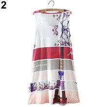 Hot National Printed  Summer Style Womens Sleeveless Dresses Cocktail Short Mini Dresses  Retail/Wholesale  5ASV 7FBB