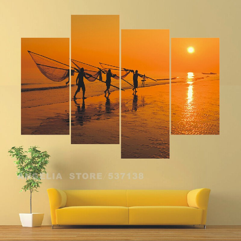 Home Wall Painting online shop modern wall painting hard-working people 4 group home