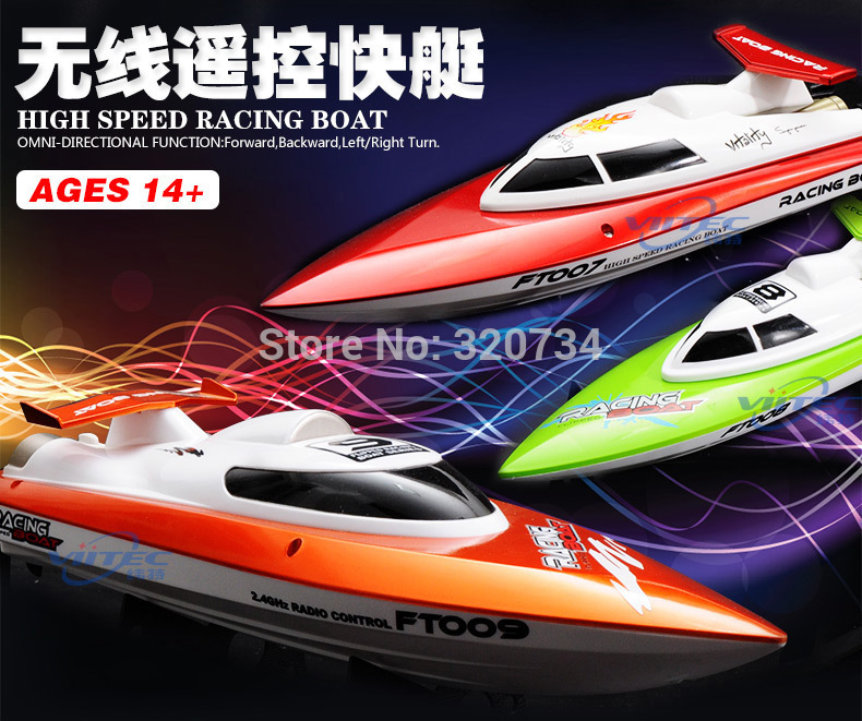 Hot sale RC Boat Feilun FT007 2.4G 4CH Water Cooling High Speed Racing RC remote control toy купить недорого в Москве