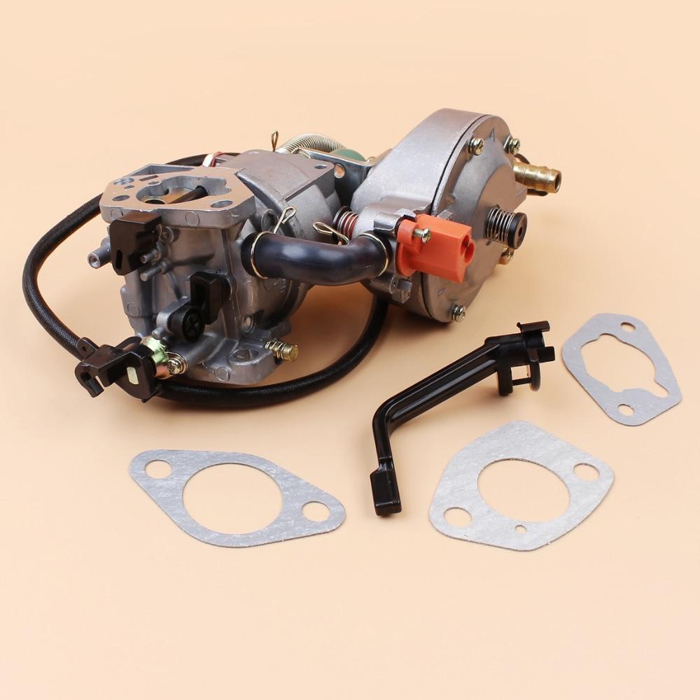 Dual Fuel Manual Choke Carburetor Gasket Kit For HONDA GX390 GX 390 Chinese  190F 188F Engine Motor Generator Gasoline CNG LPG-in Lawn Mower from Tools  on ...