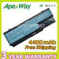 Apexway 4400mAh 10.8v Laptop Battery For Acer AS07B31 AS07B32 AS07B41 AS07B42 AS07B52 AS07B51 AS07B61 AS07B71 AS07B72 6 cells