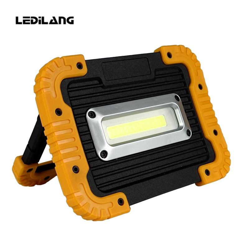 LEDILAND 30W COB LED Flood Light 750LM Rechargeable Portable Camping LED Work Lamp Emergency Power Bank Camping Hunting Lantern