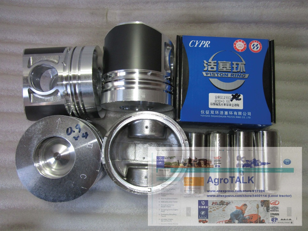 XINCHANG engine 498BT, the set of pistons, piston rings and piston pins for one engine parts for changchai zn490q engine gasket piston rings cylinder liner main bearings water temp sender water pump pistons