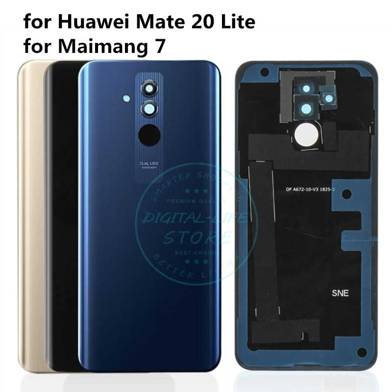 For Huawei Mate 20 Lite Original Back Battery Cover Camera Glass Battery Door Housing For Huawei Mate20 Lite Replacement Parts