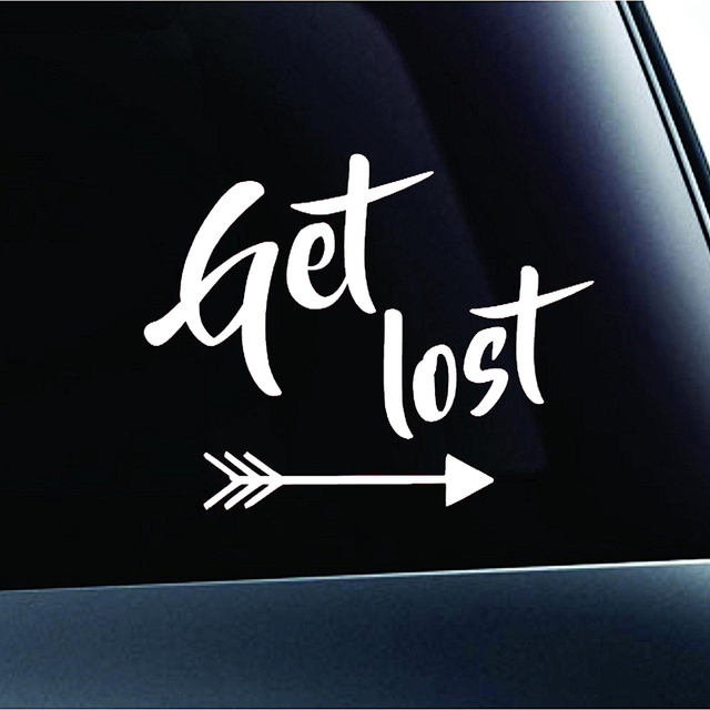Get Lost Text Arrows Hiking Camping Adventure Outdoor Computer