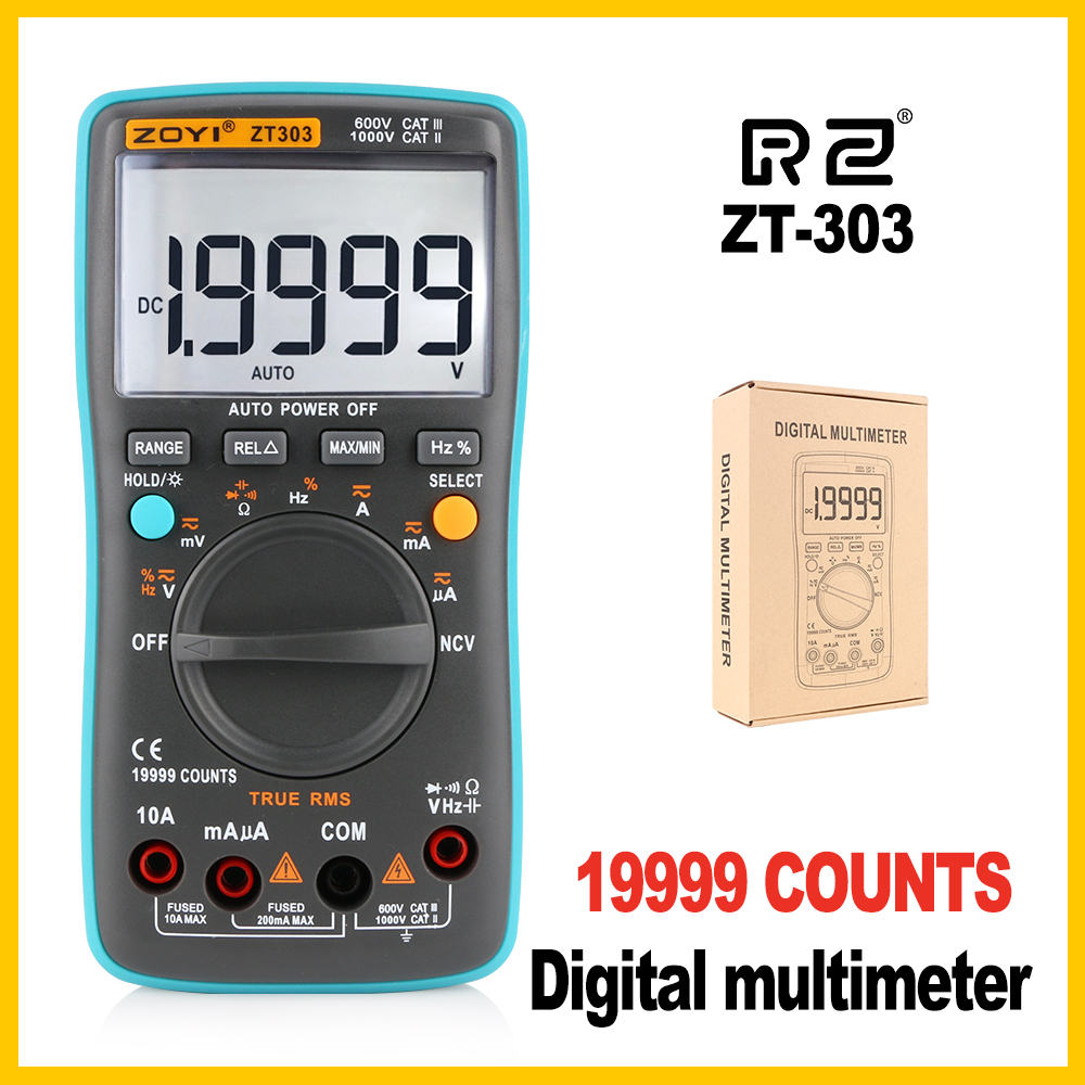 Professional Industrial LCD Digital Multimeter high-accuracy Multimeter Backlight <font><b>ZT303</b></font> image
