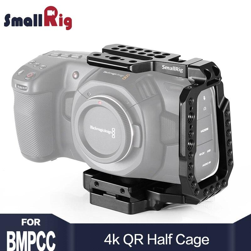 SmallRig BMPCC 4 K A Sgancio Rapido Gabbia Fotocamera Metà Gabbia per Blackmagic Design Tasca Cinema Camera 4 K Con Manfrotto 501PL piastra
