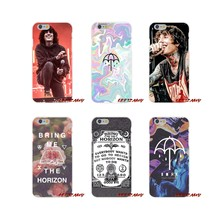 Bmth bring me the horizon Padrão Para o iphone X XR XS MAX 4 4S 5 5S 5C SE 6 6 S 8 Plus ipod touch 5 6 7 Silicone Telefone Shell Capa(China)