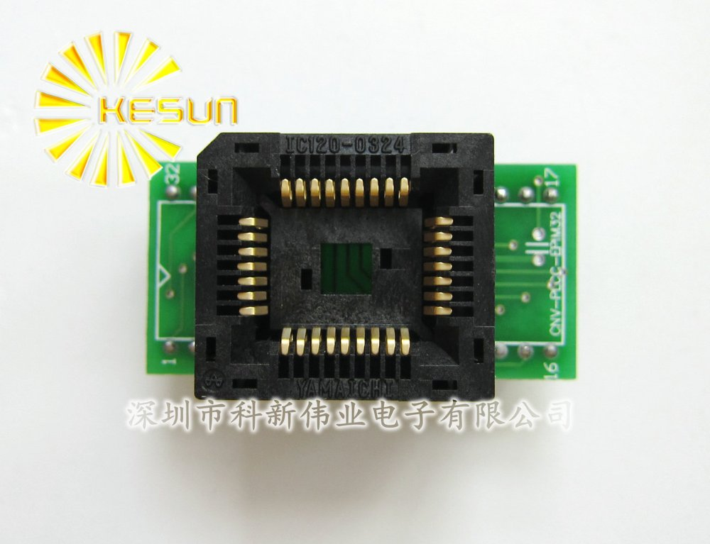 100% NEW IC120-0324 <font><b>PLCC32</b></font> <font><b>DIP32</b></font> <font><b>IC</b></font> Test Socket / <font><b>Programmer</b></font> <font><b>Adapter</b></font> / Burn-in Socket ( <font><b>PLCC32</b></font> - <font><b>DIP32</b></font>) image