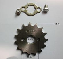 NEW 15 t tooth 17MM FRONT ENGINES sprocket FOR 428 CHAIN motorcycle MOTO PIT dirt ATV parts bike