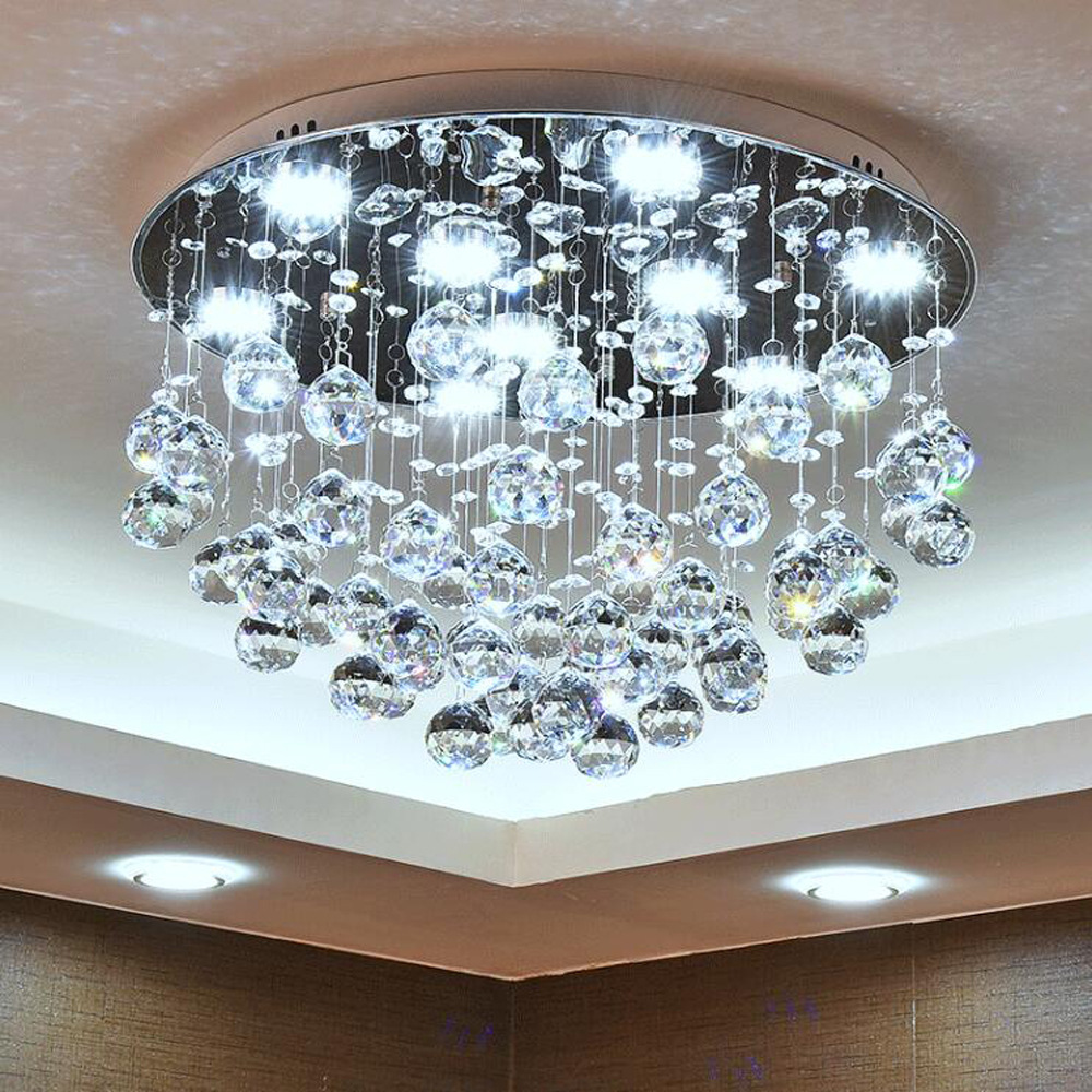 Fashion crystal round led Chandeliers led lamp High power 40W led Chandelier lighting living room led