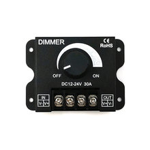 DC12-24V Lighting Dimmer for LED Lights 8A 30A Stepless LED Dimmers 10W 50W 100W 200W 300W Brightness Dimming Switch Controller
