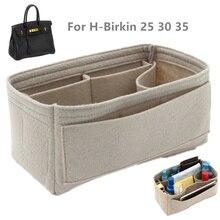 Se adapta a H PIR kins 25, 30, 35 bolsas de inserción, organizador de bolso de maquillaje, organizador portátil, modelador de base de cosméticos para mujer, bolso de mano
