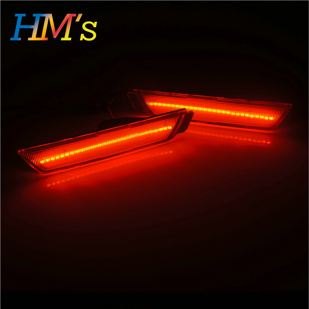 (Rear) For Chevy Camaro 2010 2011 2012 2013 2014 2015 Car Front Amber Rear Red Side Marker Lamps Turn Signals SMD LED Light (5)