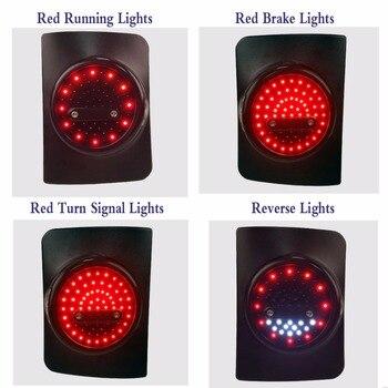Round LED Tail Light Running Brake Light Reverse Light Turn Signal For Je ep Wr-angler Unlimited JK 4 Door Led Taillight