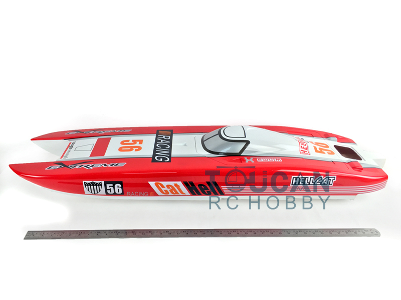 KIT E51 Fiber Glass Well-painted Boat Hull only for Advanced Player Red цена