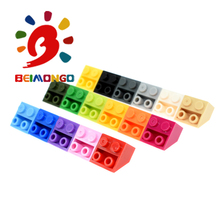 Kids'-Toys Roof-Tile Slope Can-Be-Compitabled Brick-45 Building-Blocks BEIMONGO Inverted