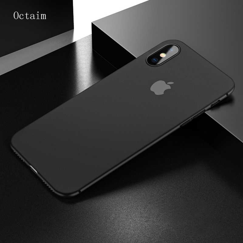 0.3mm Ultra Thin Phone Case For iPhone 7 6 6S 8 Plus Soft Silicon PC Matte Clear Case For iPhone XS MAX X Back Cover Capa Coque
