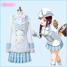 lovelive sunshine Country Incredibles Article Apron Dress Sakurauchi Riko Maid Cosplay Costume O