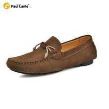 Men's Fashion Suede Leather Casual Men's Handmade Velvet Loafers Slip On Boat Shoes Breathable Driver Shoes Latest Fashion Shoes