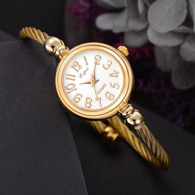Relojes de lujo de mujer .Acero inoxidable ,reloj de pulsera de cuarzo