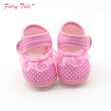 Toddler Shoes Lace Spring Newborn baby boy Girls Booties Polka Dot Baby Shoes Moccasins Newborn Girls Booties for Newborn(China)