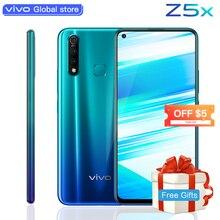 Оригинальный мобильный телефон vivo Z5x 6,53 «экран 8G 128G Snapdragon710 16MP камера Android 9 5000mAh большой аккумулятор celular смартфон