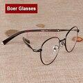 Nueva moda retro gafas mujeres miopía anteojos recetados borde completo gafas de metal gafas Rxable H0058 (49-19-140)