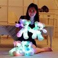 38 СМ Романтический Красочные Мигающий СВЕТОДИОДНЫЙ Ночник Световой Плюшевый Мишка Ангел Сияющий Медведь Кукла Прекрасные Подарки для Детей и друзья