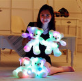 38CM Romantic Colorful Flashing LED Night Light Luminous Teddy Bear Angel Shining Bear Doll Lovely Gifts for Kids and Friends
