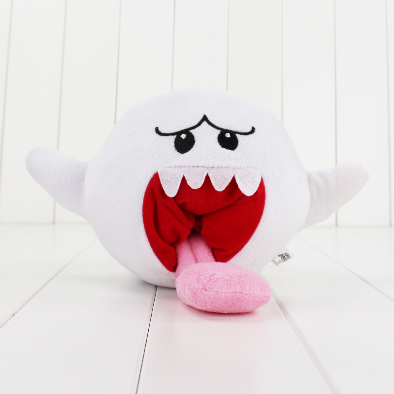 15cm Super Mario Plush Toys Doll White Super Mario Bros Boo Ghost Soft Stuffed Dolls Plush Toys For Kids