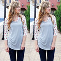 New 2015 Womens Long Sleeve Loose Cotton Blouse Casual Shirt Tops Fashion Blouse