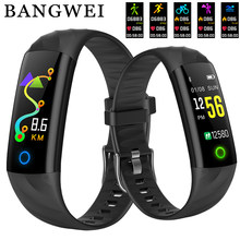 2018 New IP68 Waterproof Men Women Sports Pedometer Fitness Tracker Smart Bracelet Sphygmomanometer Smart Wristband PK mi band 3(China)