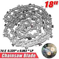 14/18 inch 52DL/74E Garden Chain Saws Alloy Solid Carbide Chainsaw Chain Link Bar 3/8 x 0.050/0.325 x 0.063 LP Power Tool parts