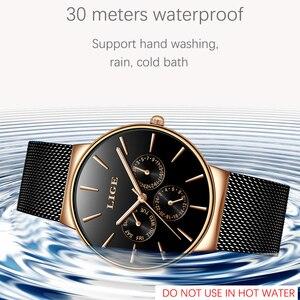 Image 2 - 2019 클래식 여성 로즈 골드 톱 브랜드 럭셔리 Laides 드레스 비즈니스 캐주얼 방수 시계 쿼츠 캘린더 손목 시계