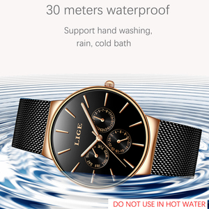 Image 2 - 2019 klassische Frauen Rose Gold Top Marke Luxus Laides Kleid Business Mode Lässig Wasserdichte Uhren Quarz Kalender Armbanduhr