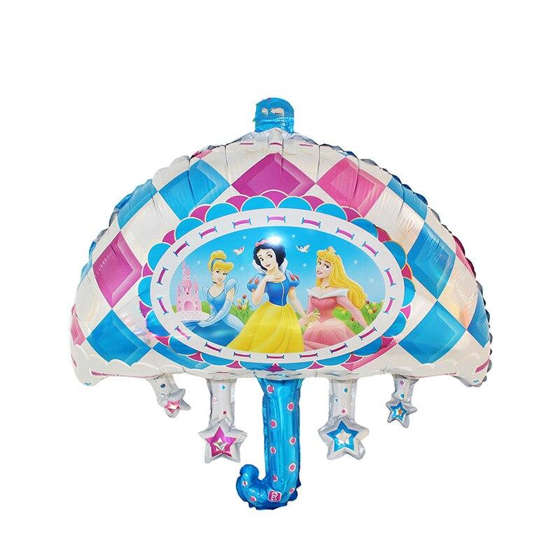 Nova 1 pcs alumínio guarda-chuva princesa capina festa de aniversário  decoração de balões de aniversário globos de balão atacado Frete grátis 9ffc119b3581e