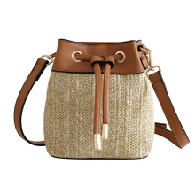 Fashion Bag Female 2019 New Straw Bucket Bag Pu Leather Shoulder Crossbody Bag Luxury Handbags Women Bags Designer Messenger