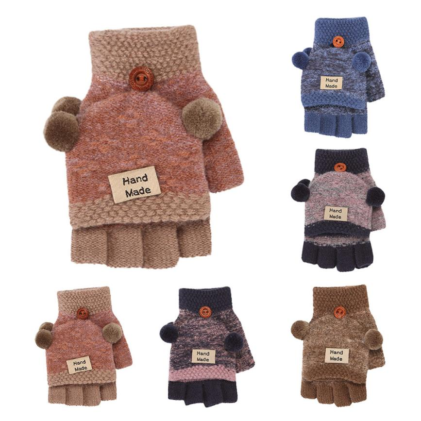 Toddler Baby Cute Thicken Hot Fingerless Girls Boys Winter Warm Gloves Mitten F6 pca 6003 pca 6003ve a2 industrial motherboard tested good board with fan cpu and ram