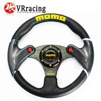 VR RACING - NEW 32cm Black MOMO leather steering wheel and carbon fibre wheel automobile race modified VR-SW41