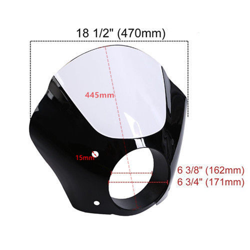 Motorcycle 49mm Headlight Fairing Shade Mask W/Trigger Lock Mount Kit For Harley Dyna Super Glide FXDC Low Rider FXDL 1