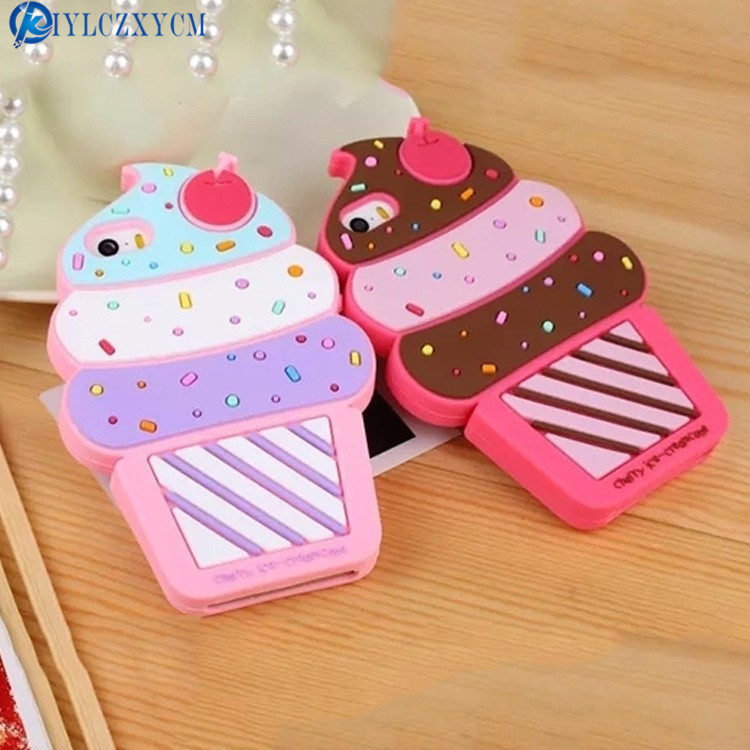 KIYLCZXYCM For Iphone X Case 3D Ice Cream Cartoon Soft Silicone Phone Case Cover on For iPhone 4 4S 5 5S SE 5C 6S plus 7 Plus 8P