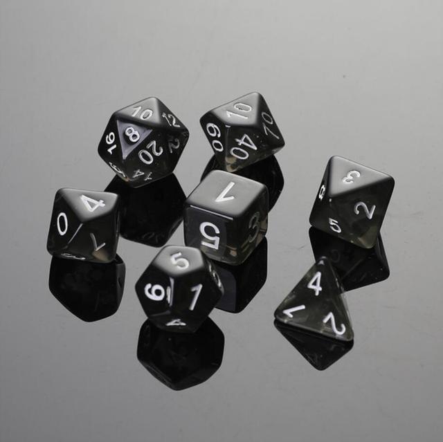 7 pçs/set Poliédrico dice Game Dungeons Dragons Digital Multi Faces Acrílico Dice