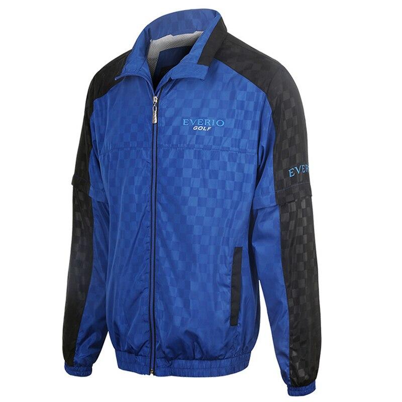 Veste de Golf manteau à glissière pour hommes imperméable à l'eau en plein air Golf coupe-vent sport vêtements masculins pour automne chemise de golf à manches longues ou vestes - 3