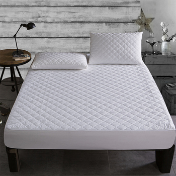 Bed Cover Brushed Fabric Quilted Mattress Protector Waterproof 1