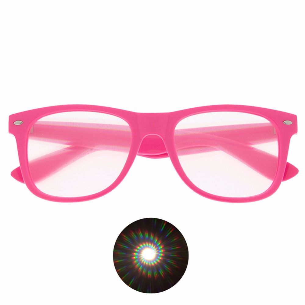 50pcs Spirals 3D Fireworks Diffraction Glasses Plastic for Night Club New Year Parties Concerts Dance Event