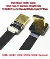 5/10/15/20/30 см FPV HDMI Кабель Стандартный HDMI Мужской интерфейс к стандартному HDMI мужскому интерфейсу 90 градусов для красного BMCC FS7 C300