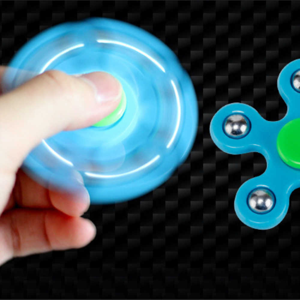 Cinque-bead Creativo punta delle dita gyros giocattolo Due-lati di barretta vite punta delle dita-a-dito pentagonale giroscopio creativo giocattolo