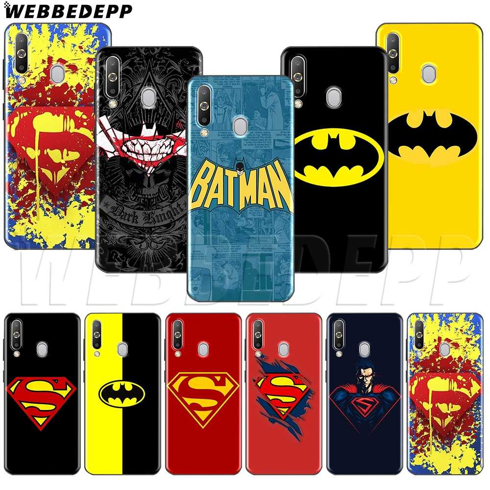 WEBBEDEPP バットマン vs スーパーマン TPU ソフトケースサムスン注 10 プラス A10S A20S A30S A40S A50S A60 A70 M10 m20 M30