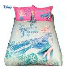 Disney Frozen Elsa Princess Утешитель Комплект постельных принадлежностей Queen Size TWIN Full King Duvet Covers Kid Girls Детский декор для спальни Розовый